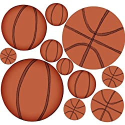 Instant Murals Sports Peel and Stick Wall Stickers Mini Sheet - Basketball