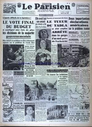 PARISIEN LIBERE EDITION DE PARIS (LE) [No 2082] du 24/05/1951