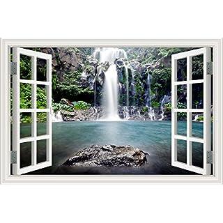 ASENART Beautiful Waterfall Landscape 3D Wall Sticker Bedroom Decor Vinyl Wallpaper 24