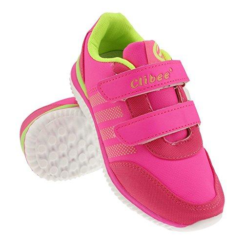 GALLUX - Kinder Sneaker coole Schuhe Mädchen Jungen Pink