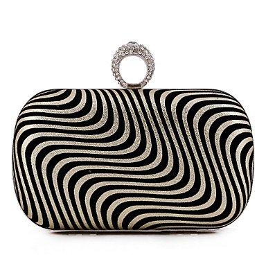 pwne L. In West Woman Fashion Die Geometrische Weben Abend Tasche Gold