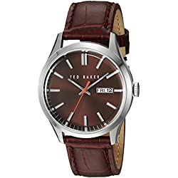 TED BAKER GENTS BURGUNDY DIAL STRAP WATCH
