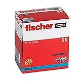 Cheville autoperceuse nylon pour carton plâtre GK / boîte de 100