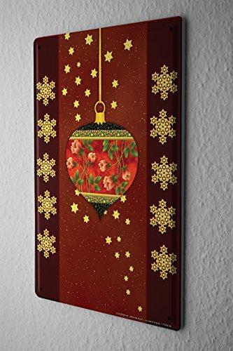 Cartello targa in metallo fun cucina decorazione fiocchi di neve invernale palla dell'albero di natale piastra insegna metallica 20x30 cm