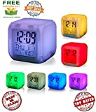 #10: ZED BONE™ Colour Changing Led Digital Alarm Clock With Date, Time, Temperature for Office, Bedroom, multipupose and (Get a extra assured gift absolutly free if you purchase from ZED BONE)