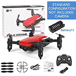 Mini Drone con Cámara Altitude Hold RC Drones con Cámara HD WiFi FPV Quadcopter Dron RC Helicóptero VS Z1, JDRC JD-16, HDRC D2, SM M1 Estándar Sin Cámara Roja