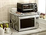 ZHIWUJIAZXM GRJH® Estante, cocina de metal Horno de microondas Cocina de arroz Soporte para horno de horno Multifunción Incorporada Impermeable y duradero (Color : Blanco)