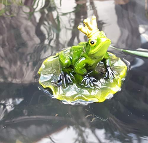 Nostalgic Garden Schwimmtier Teichfigur Froschkönig PO (Frosch)