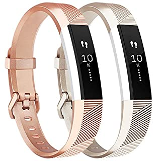 Tobfit Fitbit Alta HR Strap Adjustable Replacement Soft Sport Straps for Fitbit Alta HR and Fitbit Alta (2-Pack, Small)
