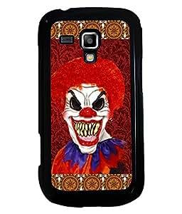 PRINTVISA Pattern Joker Premium Metallic Insert Back Case Cover for Samsung Galaxy S Duos 2 S7582 - D5729