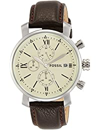 Fossil Analog Off-White Dial Men's Watch - BQ1007