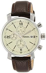 Fossil Analog Off-White Dial Men's Watch - BQ1007