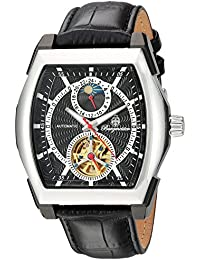 Burgmeister Men's Automatic Watch with Black Dial Analogue Display and Black Leather Bracelet BM222-622