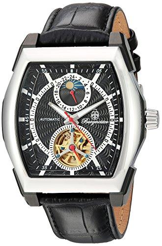 Burgmeister-Orologio da uomo con Display analogico e braccialetto BM 222-622, in pelle, colore: nero