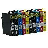1 Compatible Remplacer pour Epson T1281 - T1284  2 Couleurs Inclus:1 x Noir,1 x Cyan,1 x Magenta,1 x Jaune.  3 Compatible avec les imprimantes suivantes:: Stylus S22/SX125/SX130/SX230/SX235W/SX420W/SX425W/SX430W/SX435W/SX438W/SX440W/SX445W Office BX3...