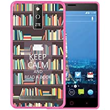 Funda ZTE Blade V220, WoowCase [ ZTE Blade V220 ] Funda Silicona Gel Flexible Keep Calm and Read a Book, Carcasa Case TPU Silicona - Rosa
