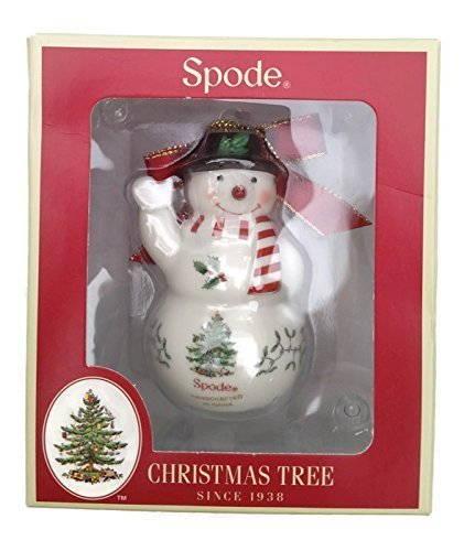 Spode China Christmas Tree Snowman Ornament by Spode Spode China Christmas Tree Ornaments