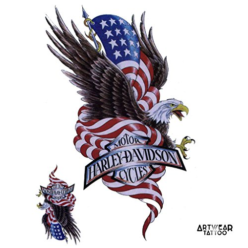 tatouage-temporaire-artwear-tattoo-harley-davidson-american-eagle-tattoo