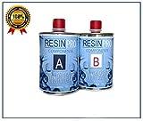 Resina Epossidica Trasparente da 800 GR + i guanti in nitrile neri IN REGALO! Sistema epossidica bi-componente (composto da 500 g di resina e 300 g di indurente) ad alte prestazioni per applicazioni in film (1 mm) e colate in spessore fino a 3 cm. Ol...