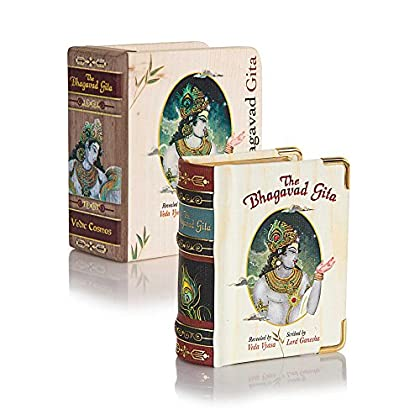 The Bhagavad Gita Book, Miniature Edition A8, Original Sanskrit verses with English Transliteration plus Translation in English & Hindi