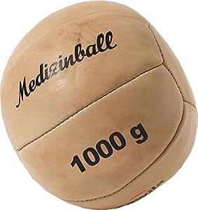 Cawila Medizinball Leder, Beige, 1.0 Kg, 00130820