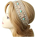 1pc Women's Fashion Lace Alloy Flowers Head Hand Hairband Hair Band