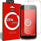 nandu I ZenGlass [2 Stück] Flexible Glas-Folie für Nokia 1 Panzerfolie I Display-Schutzfolie 9H
