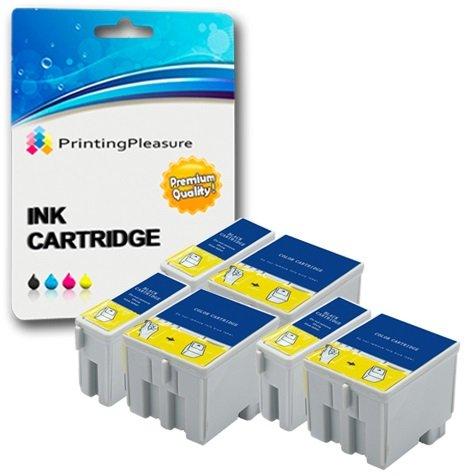 6 Tintenpatronen kompatibel zu Epson T040 T041 für Epson Stylus C62 CX3200 - Schwarz/Color, hohe Kapazität (C62 Tinte Epson Cx3200 Schwarz)