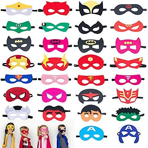 Thor Kostüm Alle - Superheld Masken, Superheld Party Masken Kinder Maskerade Cosplay Augenmasken für Alter 3-Plus, perfekt für Kostüm, Geburtstagsfeier (30 Stück)