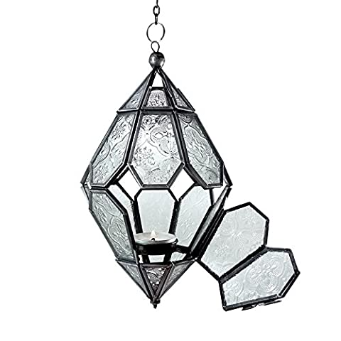 Just Contempo Diamond Hanging Tealight Candle Holder