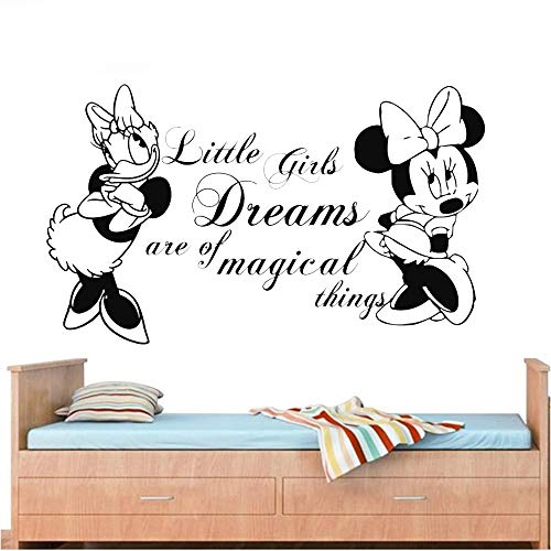 Art 104 Daisy (wandaufkleber 3d Wandtattoo Kinderzimmer Mickey Minnie Mouse Wall Art Decal Sticker Nursery Decor Minnie Mouse And Daisy Kid Room Wall Stickers Pvc Wall Mural Removable)