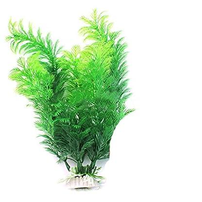 bismarckbeer Green Artificial Aquatic Plants Fish Tank Aquarium Water Plants Grass Landscape Decoration 1