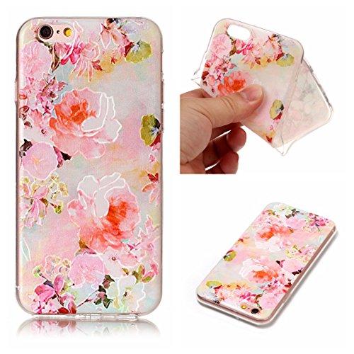 Apple iPhone 6/6S 4.7 Hülle, Voguecase Schutzhülle / Case / Cover / Hülle / TPU Gel Skin (Katze Fang Schmetterling 02) + Gratis Universal Eingabestift Pink Pfingstrose 01