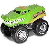 Road Rippers vehiculo con luz, sonido de camion y música Wheelie Monsters Crocodile