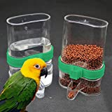 #10: AST Works Plastic Feeder Automatic Acrylic Seed Water Bird Parrot Cage Canary Cockatiel US