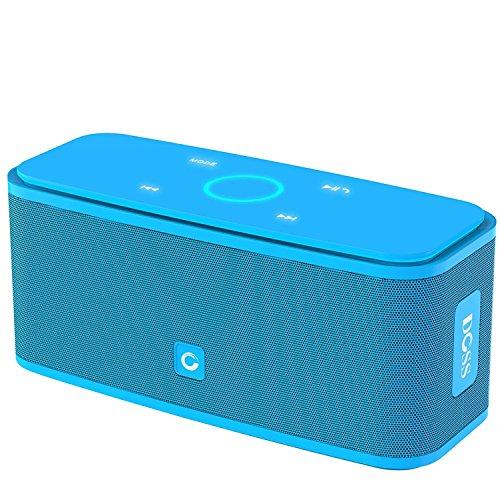 DOSS-Altavoz-Bluetooth-Porttil-inalmbrico-la-calidad-de-sonido-superior-con-un-potente-subgrave-el-tacto-sensiblela-batera-durando-12-horas-Bluetooth-V40manos-libres-Azul-SoundBox