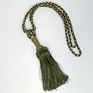 Embrasse cordon 1 pompon or vert 74 cm