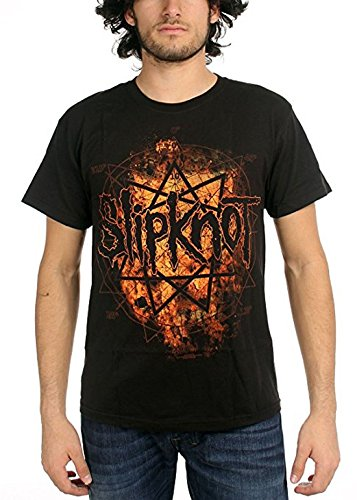 Slipknot - - Radio Fires T-Shirt In Black, Small, Black (Rock-t-shirts Slipknot)