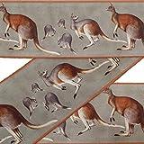 IBA Indianbeautifulart Grun Känguru Tier Stoff