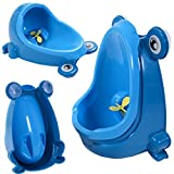 Frog Children Potty Toilet Training Kids Urinal Baby Boys Pee Trainer Bathroom Blue