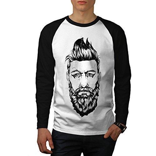 Bart Kerl Stilvoll Mode Herren M Baseball lange Ärmel T-Shirt | Wellcoda