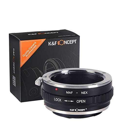 K&F Concept Minolta(AF)-NEX Objektivadapter Adapter Ring Objektiv Adapterring für Minolta(AF) Objektiv auf Sony E-Mount NEX Systemkamera