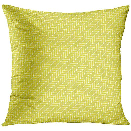 AORSTAR Throw Pillow Covers Abstraction Abstract Mosaic Yellow Diagonal Pattern Floor Tiles Beam Braided Cover Fantasy Pillowcase Cushion Cases 18x18 in,Eco-Friendly Soft Manual Custom Diagonal Beam