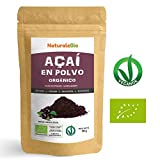 Bayas de Acai Orgánico en Polvo [Freeze - Dried] 50g | Pure Acaí Berry Powder Extracto crudo de la pulpa de la baya de açaí liofilizado | 100% Bio cultivado en Brasil | Superalimento Ecológico y rico en antioxidantes y vitaminas | Ideal para postres, batidos, recetas y como suplemento en dietas vegetarianas y veganas | NATURALEBIO