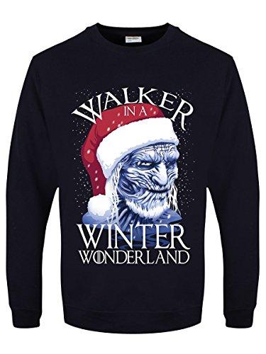 Winter Wonderland-sweatshirt (Herren Sweater Walker In A Winter Wonderland Weihnachtspullover blau)