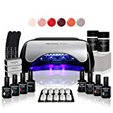 Kit manucure vernis semi permanent  6 Vernis à ongles & Lampe UV / LED 48W Unic - Coffret Ruby -  Cruelty free  Méanail Paris