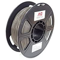 AIO Robotics Premium 3D Printer Filament, PLA, 0,5 kg PLA, Diameter 1,75 mm, Dark Grey