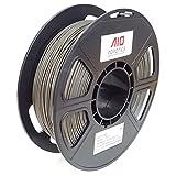 AIO Robotics Premium 3D Drucker Filament, PLA, 0,5 kg Spule, Genauigkeit +/- 0,02 mm, Durchmesser 1,75 mm, Dunkelgrau