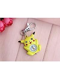 ShopyStore 2 Pikachu Bronze Quartz Pocket Watch Mens Womens Necklace Pendant Analog Watch Gift Kid