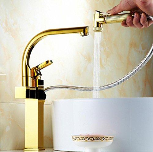 moderno stile contemporaneo di lusso rubinetti da cucina migliore commerciale moderno pull-down maniglia due Lavello rubinetto senza piombo